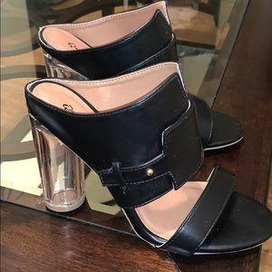 New Clear Heel Sandals